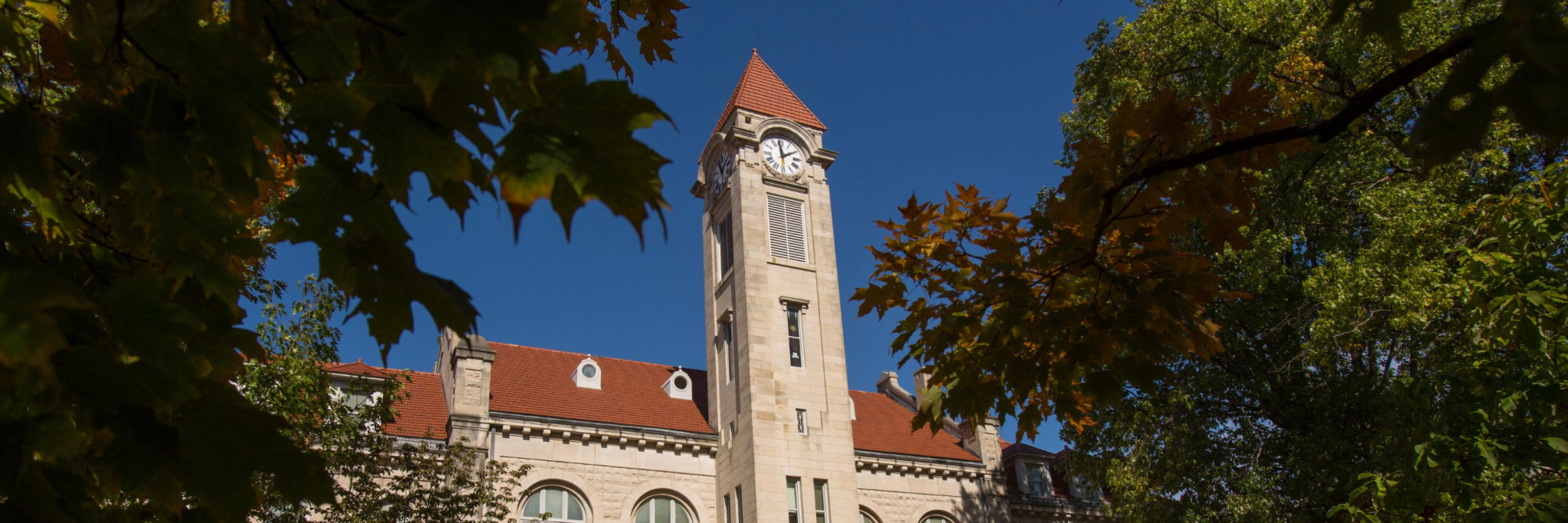 Clock tower of the IU Student Building